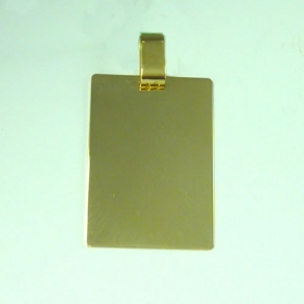 Placa oro lisa grande