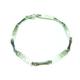 Pulsera oro blanco mate brillo